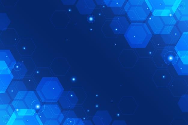 六角形の技術の背景 無料ベクター