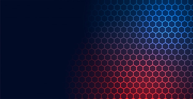 Hexagonal technology pattern mesh background with text space Free Vector