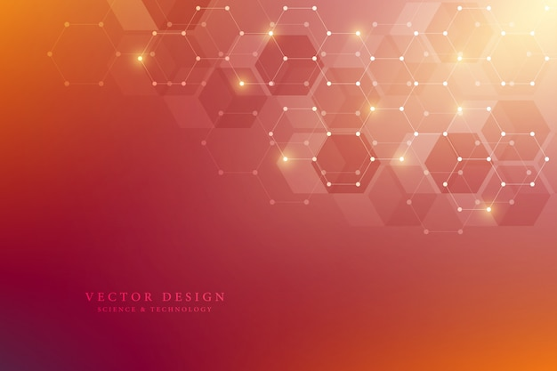Hexagons pattern for medical, science and digital technology  background Premium Vector