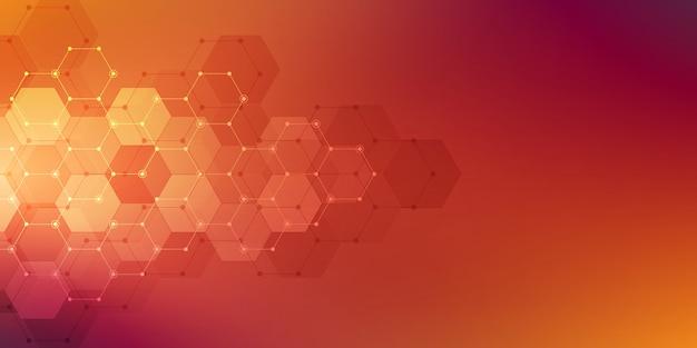 Hexagons pattern Premium Vector