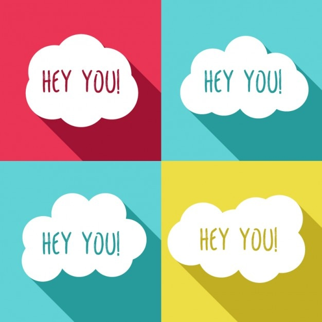 Hey you clouds Vector | Free Download