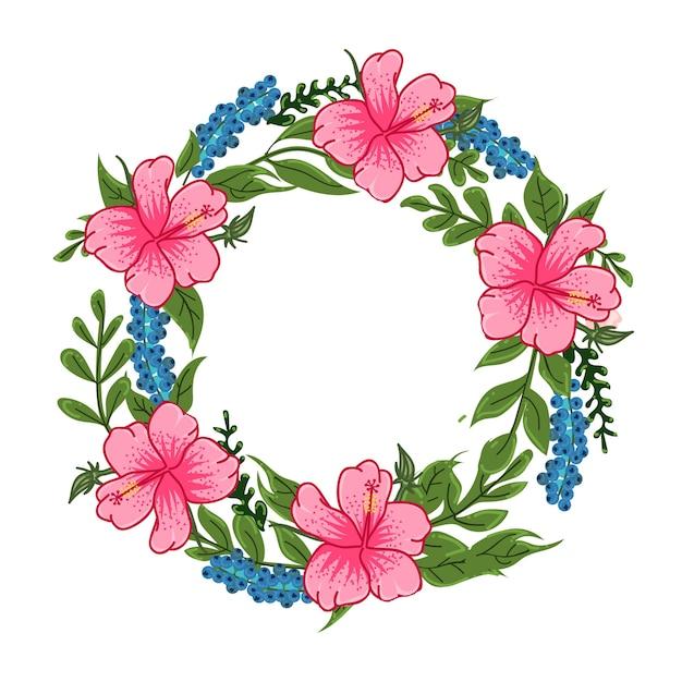 Hibiscus flower round pink background vector premium download hibiscus flower round pink background premium vector mightylinksfo