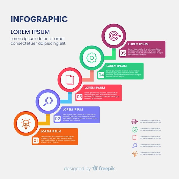Hierarchy infographic diagram template Premium Vector