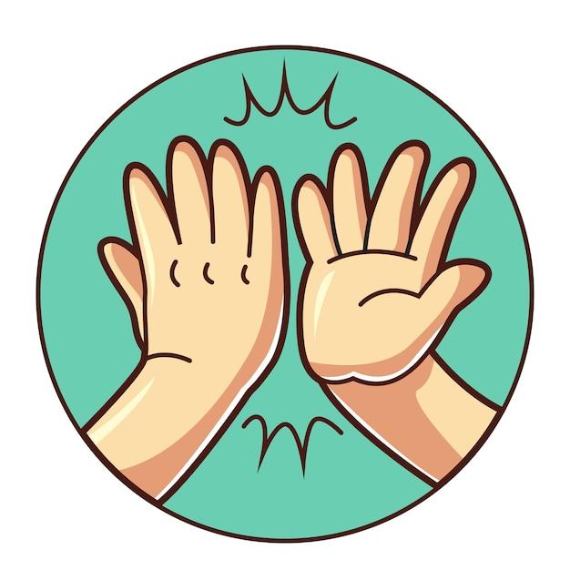 High five hand Premium Vector