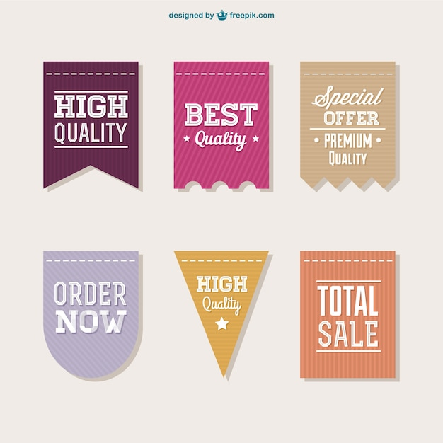 High quality labels collection Free Vector