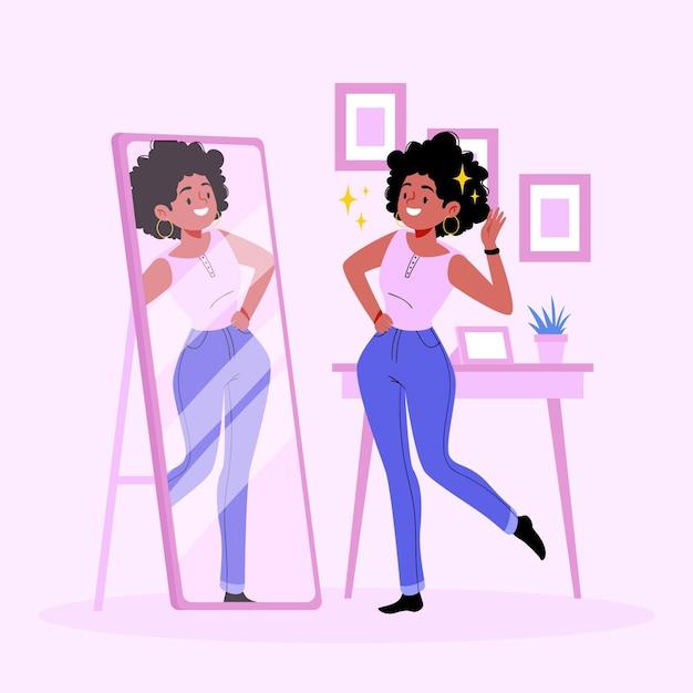 High self-esteem illustration Free Vector