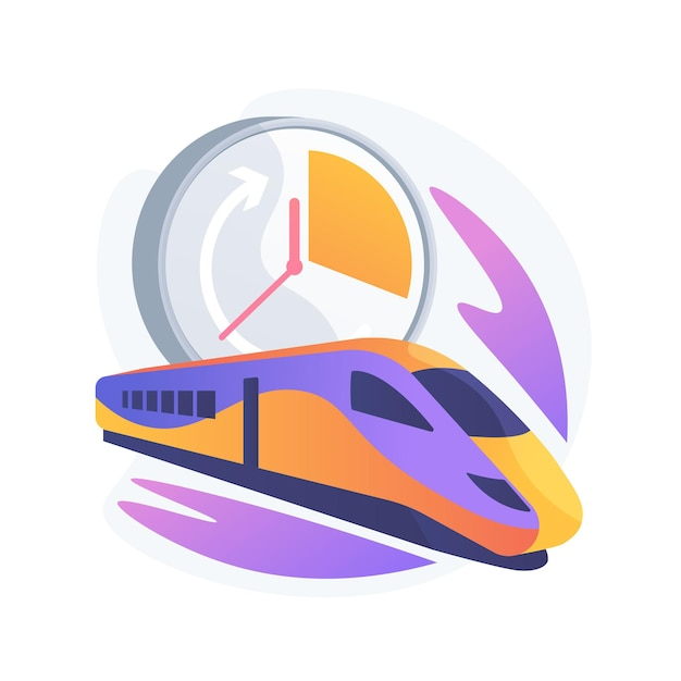 High-speed transport abstract concept illustration Free Vector