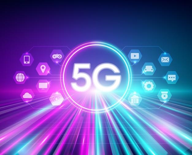 High speed wireless network illustration Premium Vector