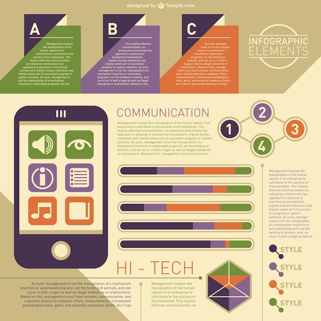 High tech infographic Vector | Free Download