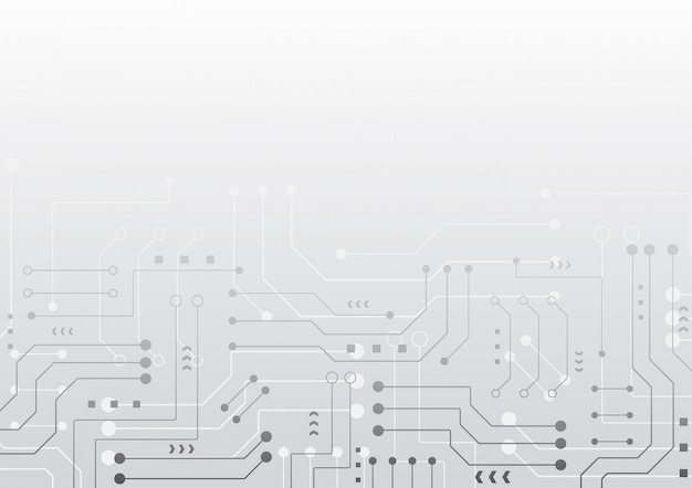 High tech technology geometric background Premium Vector