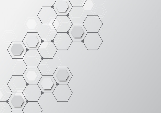 High tech technology geometric Premium Vector