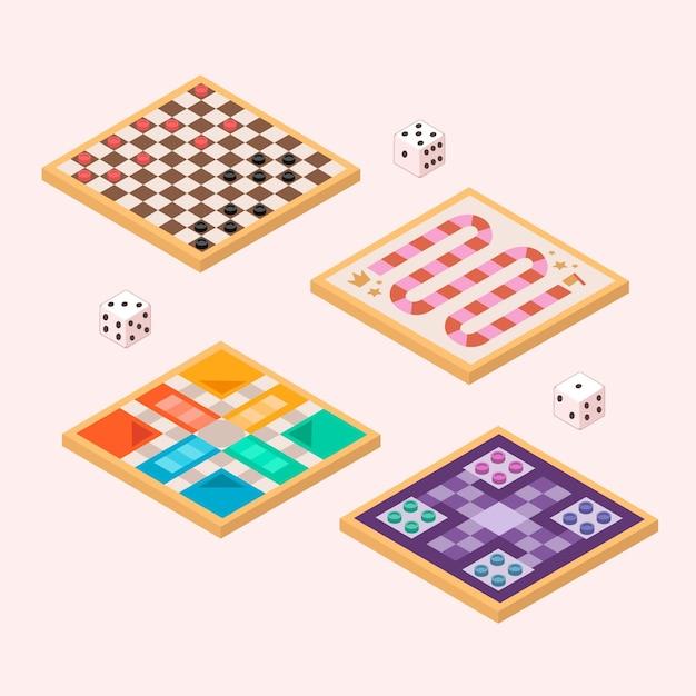 Società di giochi da tavolo ad alta vista Vettore gratuito