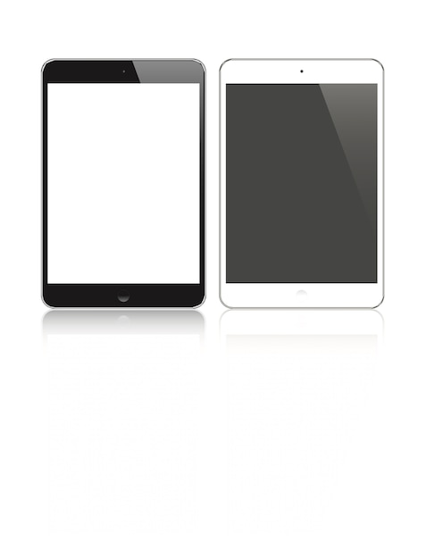 Highly detailed responsive small tablet Premium Vector