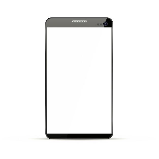 Highly detailed responsive smart phone mockup Premium Vector