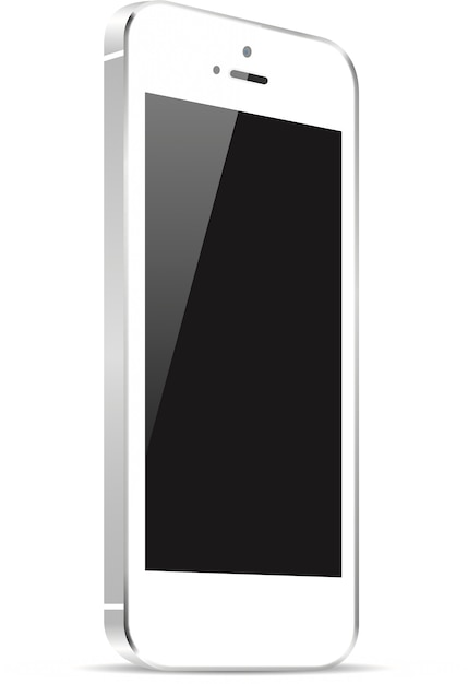 Highly detailed responsive smart phone mockup Premium Vector