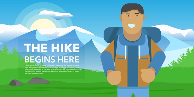 Hiking banner design