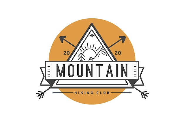 Шаблон логотипа туристического клуба Бесплатные векторы