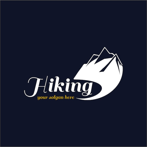 Hiking logo background