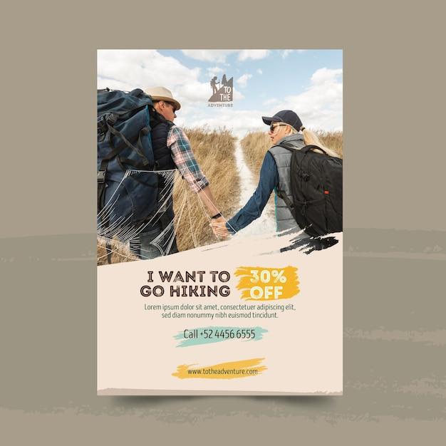 Шаблон туристического плаката Premium векторы