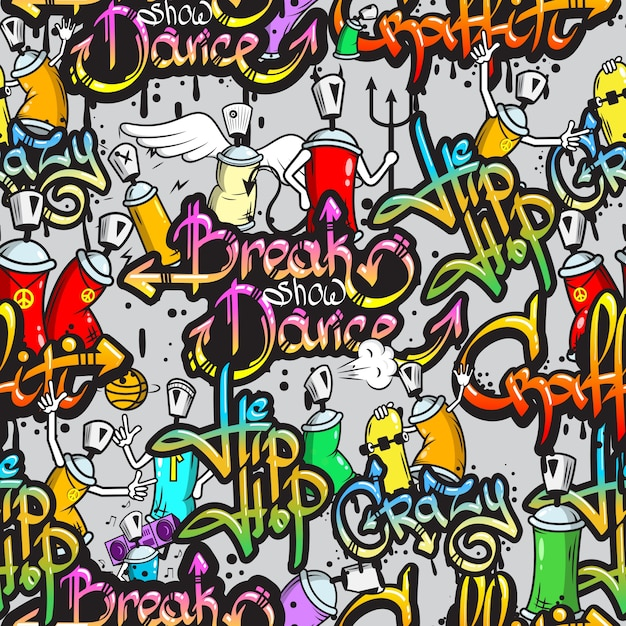 Hip Hop Background Free Vector