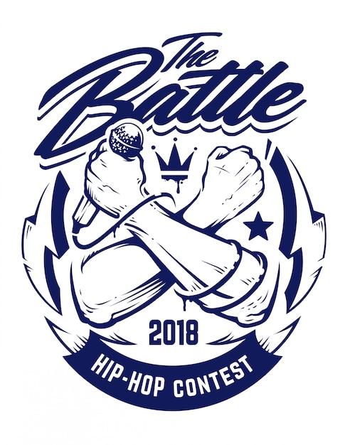 Эмблема хип-хоп Premium векторы