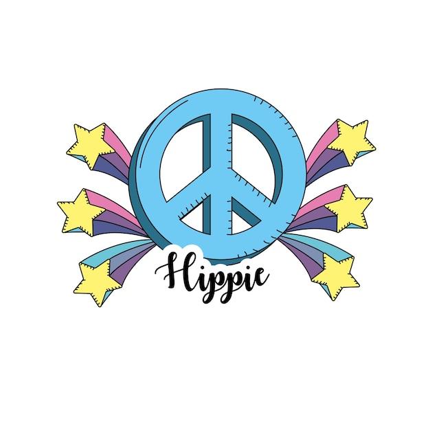 Hippie icon design Premium Vector