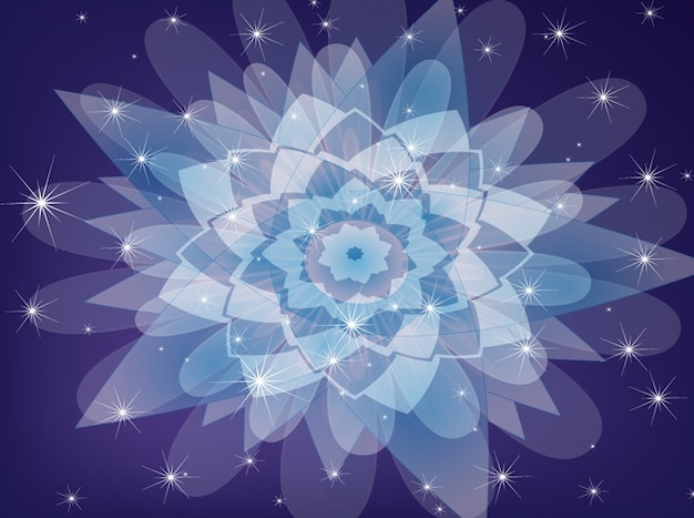 Hippie purple flower abstract background