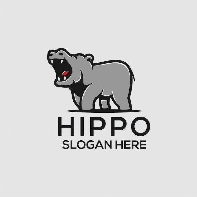 Hippo logo ideas Premium Vector