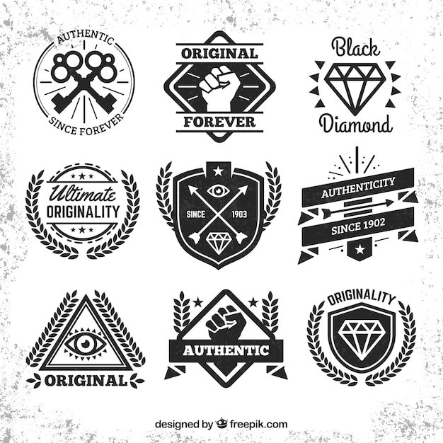 Hipster badges collection Free Vector