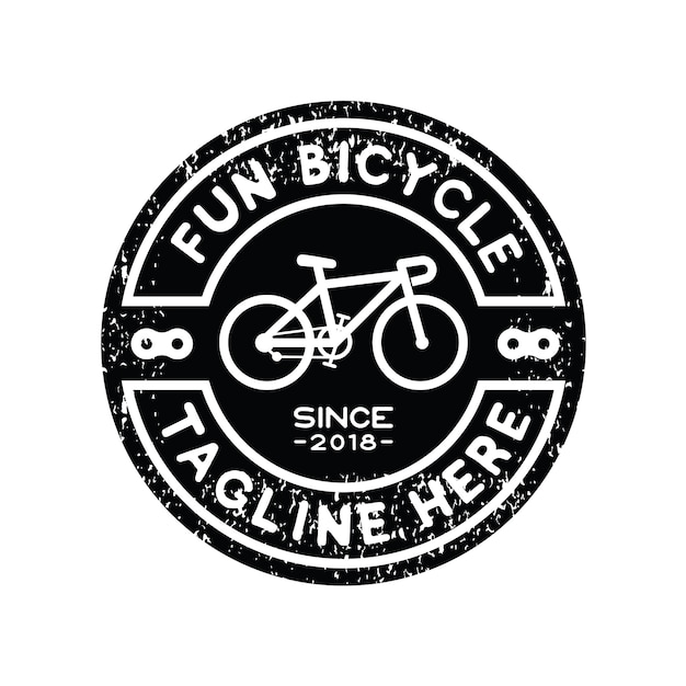 Hipster bicycle logo design inspiration vector Premium Vector