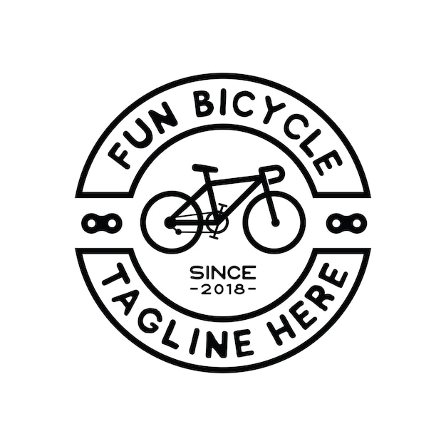 Hipster bicycle logo design inspiration vector Premium Vector