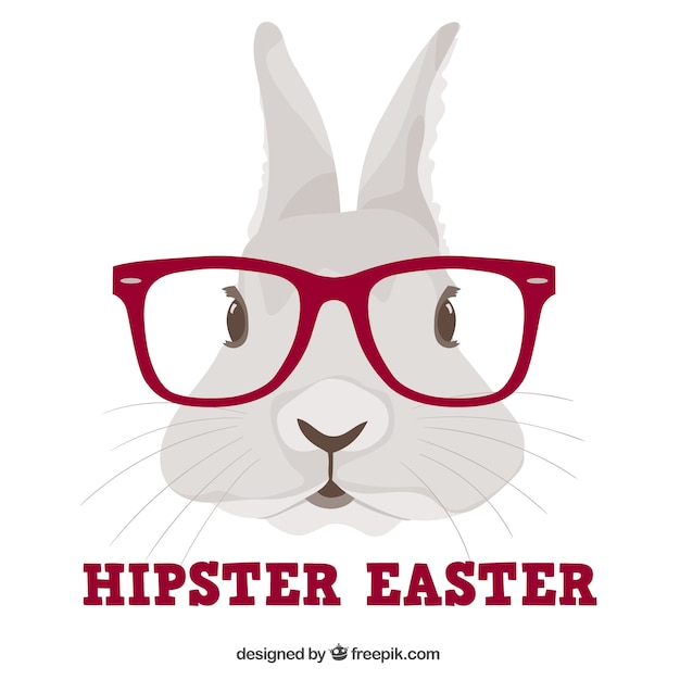 Hipster Bunny Vector Free Download