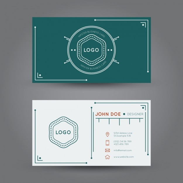Hipster business card design vector free download hipster business card design free vector reheart Choice Image