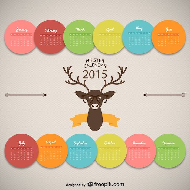 Calendar Design Freepik : Hipster calendar design vector free download