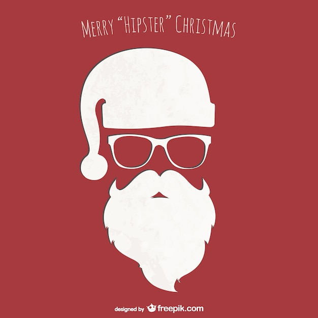 Hipster Christmas Card Vector Free