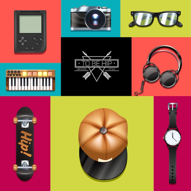 Hipster concept Free Vector