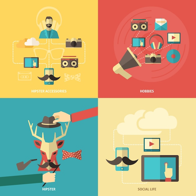 Hipster design concept Free Vector