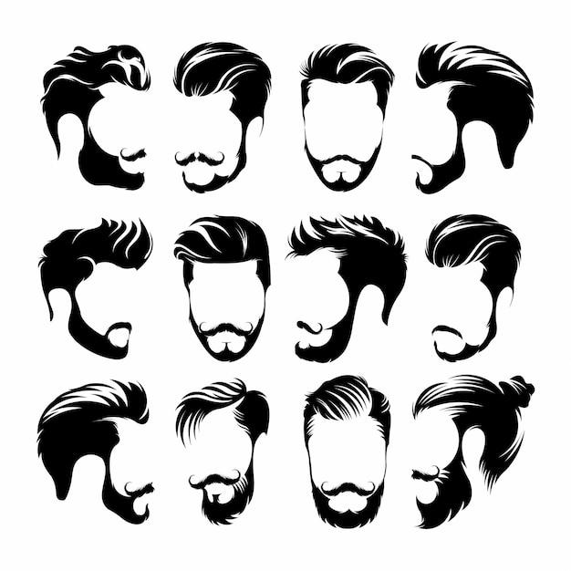 Hipster hair Premium Vector