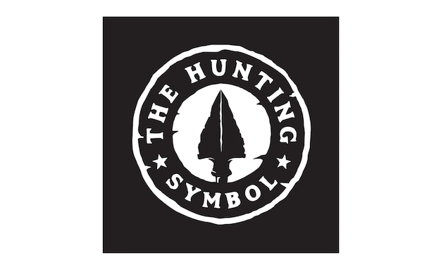 Hipster hunting logo design Premium Vector
