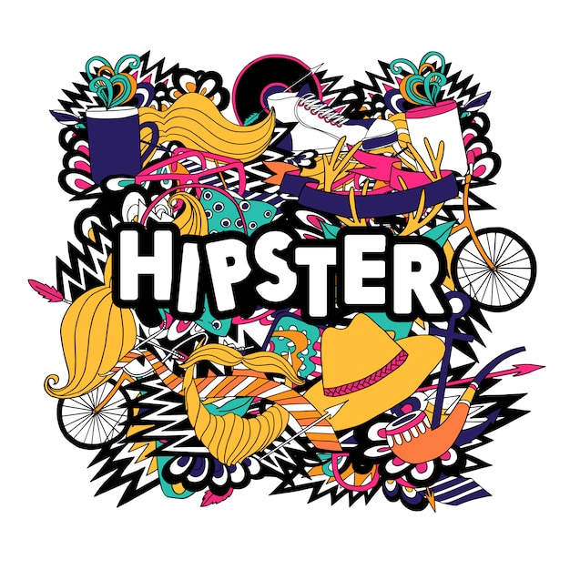 Hipster Lifestyle Accessories And Fashion Symbols Compositions With