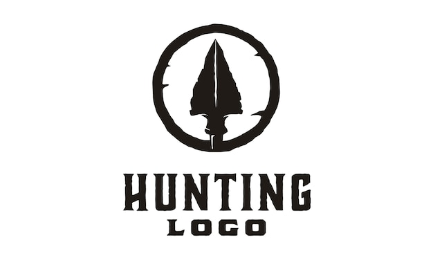 Hipster / retro hunting logo design Premium Vector