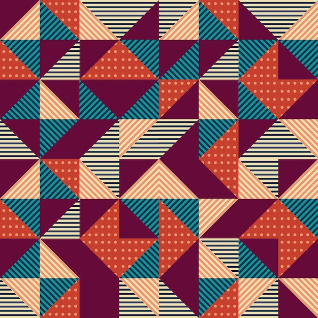 Hipster trendy seamless background Premium Vector