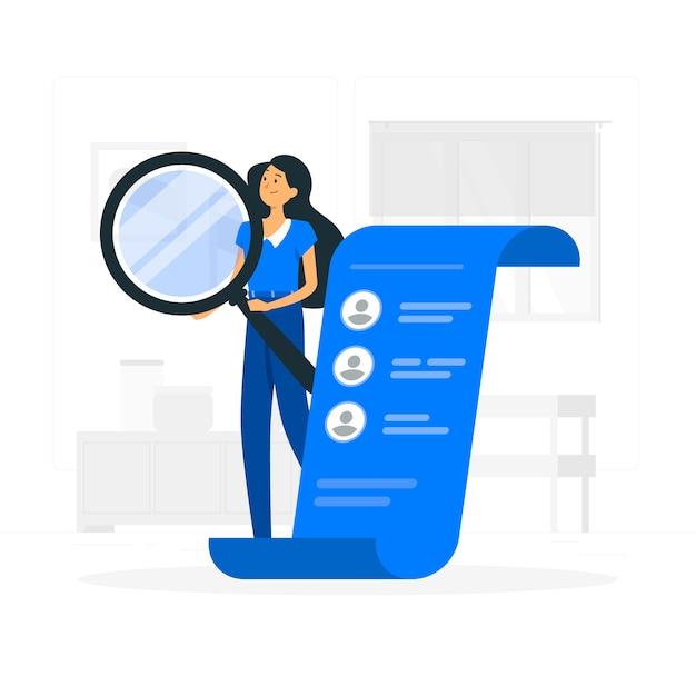 Hiring concept illustration Free Vector