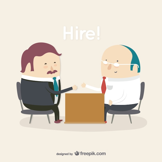 Hiring employees cartoon character Free Vector