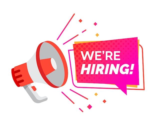 Hiring recruitment design banner Premium Vector