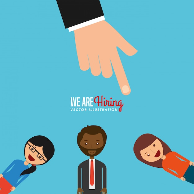 Hiring workers Free Vector
