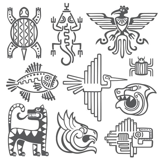 Historic aztec Premium Vector
