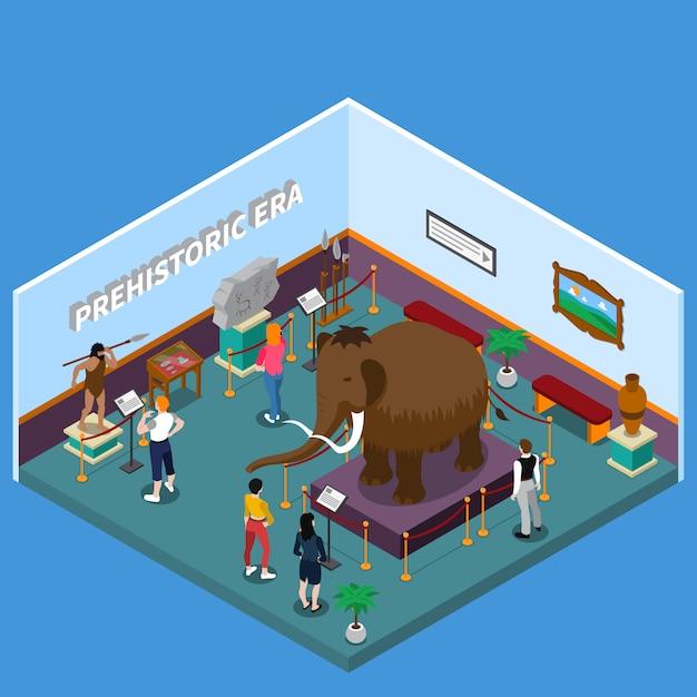 Historical museum isometric illustration Free Vector