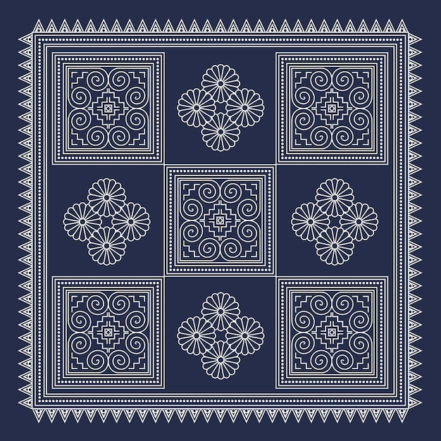 Hmong Geometric Background 60 Vector Premium Download Fascinating Hmong Pattern