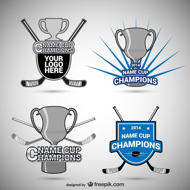 Hockey badges and cups